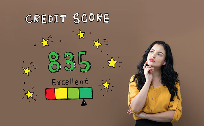 woman musing about her credit score